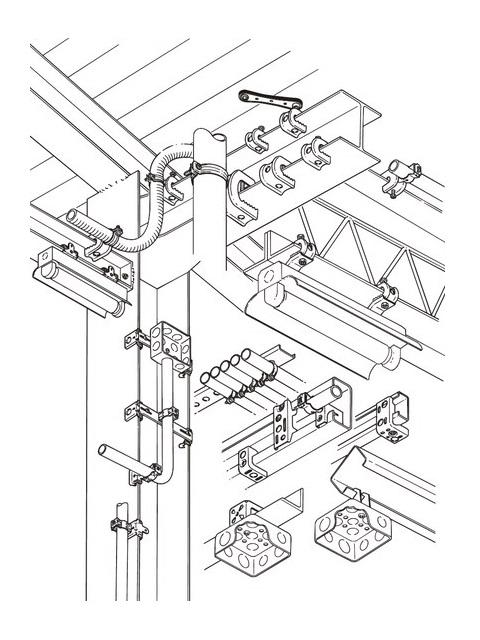 ネグロス電工 パイラック (一般形鋼用管支持金具)