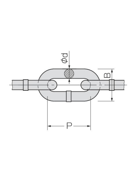 ブランコチェーン 30m クロメート