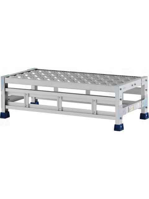 ステンレス金具仕様作業台(天板縞板タイプ) 1段 CMT 天板高さ 250mm 受注生産品 CMT-128S
