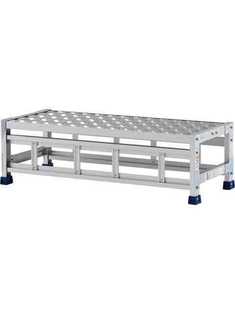 ステンレス金具仕様作業台(天板縞板タイプ) 1段 CMT 天板高さ 300mm 受注生産品 CMT-131S