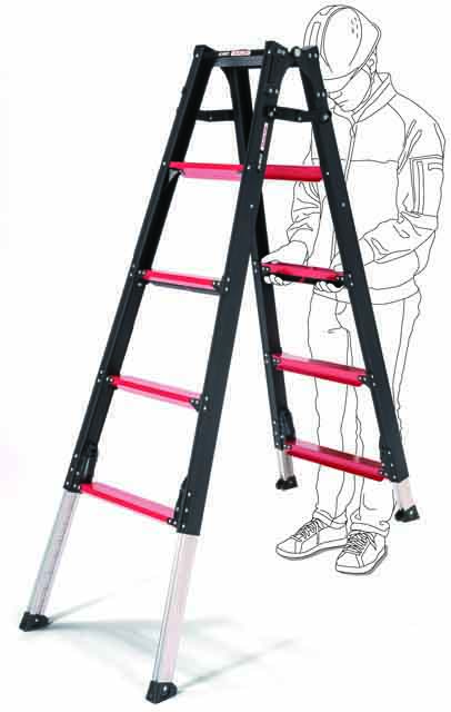 上部操作型伸縮脚付はしご兼用脚立 GUD120