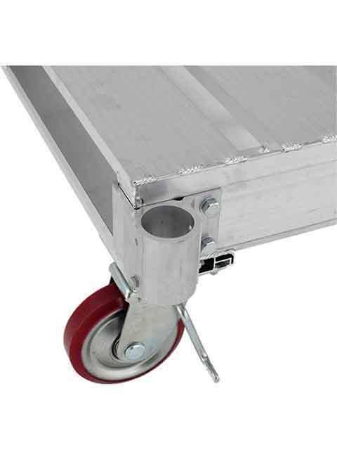 アルミパレット PLT、PLT-P用 単管差し込み用ブラケット PLTT