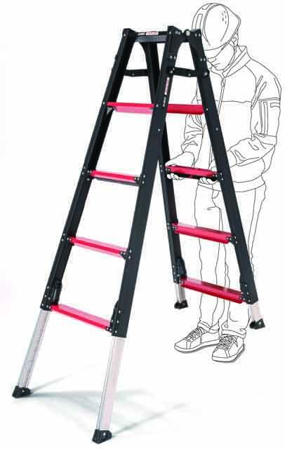 上部操作型伸縮脚付はしご兼用脚立 GUD150