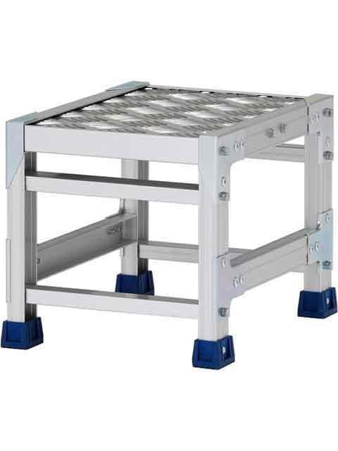 ステンレス金具仕様作業台(天板縞板タイプ) 1段 CMT 天板高さ 300mm 受注生産品 CMT-133S