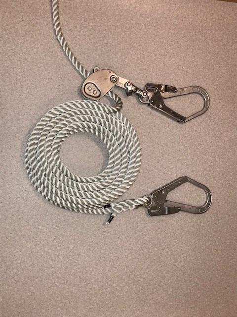 親綱ロープ ナイロンロープ 片フック・緊張器付・片逆サツマ