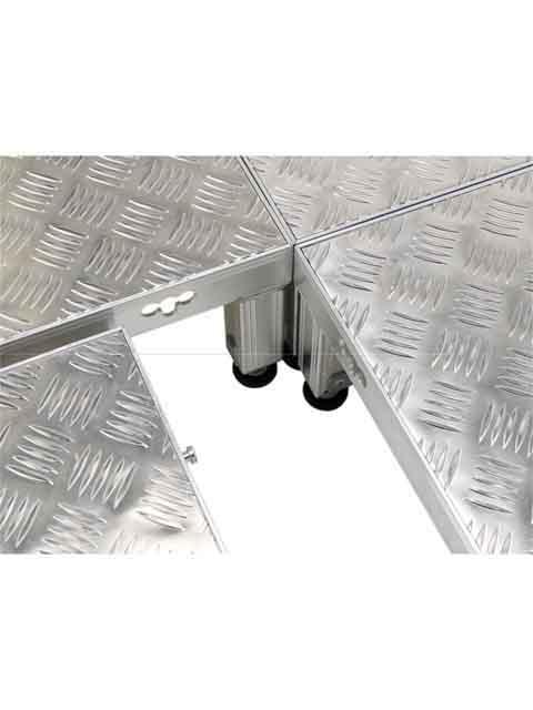 低床作業台(天板縞板タイプ) LFS 天板高さ 190mm〜220mm LFS-0404H