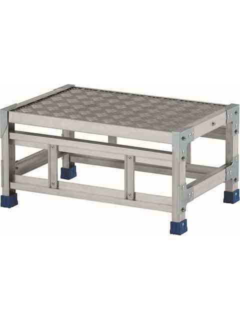 ステンレス金具仕様作業台(天板縞板タイプ) 1段 CMT 天板高さ 300mm 受注生産品 CMT-136S