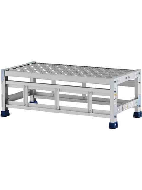 ステンレス金具仕様作業台(天板縞板タイプ) 1段 CMT 天板高さ 300mm 受注生産品 CMT-138S
