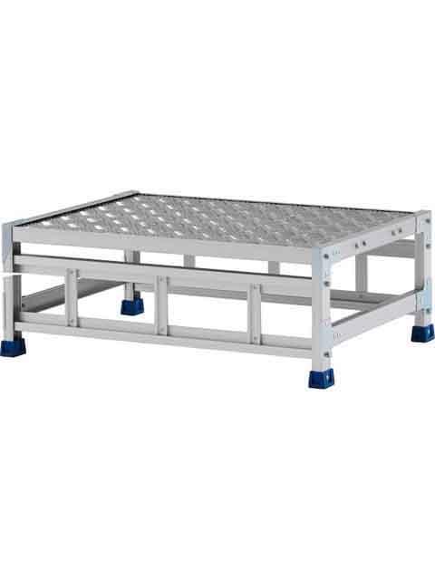 ステンレス金具仕様作業台(天板縞板タイプ) 1段 CMT 天板高さ 300mm 受注生産品 CMT-138WS