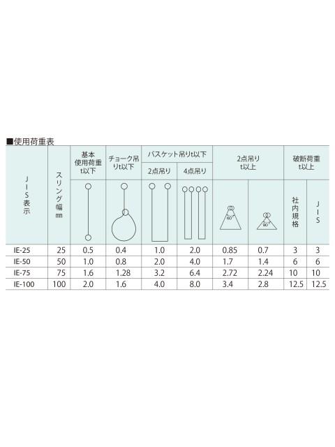 ベルトスリング 化学薬品用 アイ型(パワースリング KP-3型)