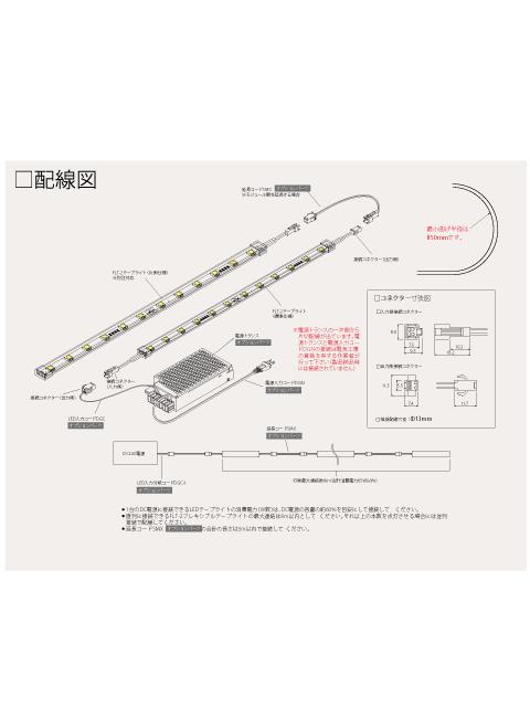 フレキシブルテープライト用 延長コード