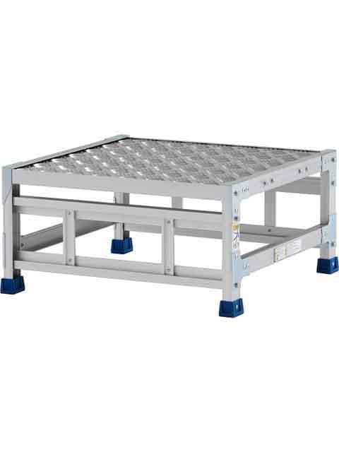 ステンレス金具仕様作業台(天板縞板タイプ) 1段 CMT 天板高さ 300mm 受注生産品 CMT-13WS