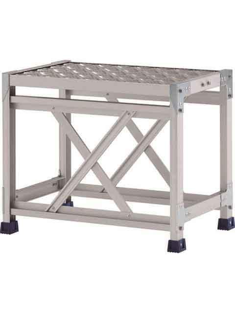 ステンレス金具仕様作業台(天板縞板タイプ) 1段 CMT 天板高さ 500mm 受注生産品 CMT-146S
