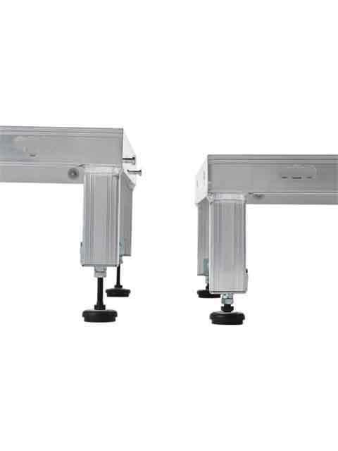 低床作業台(天板縞板タイプ) LFS 天板高さ 190mm〜220mm LFS-0906H