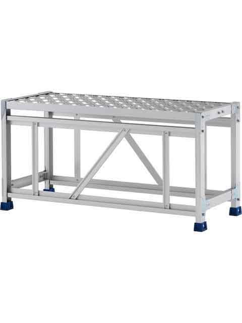 ステンレス金具仕様作業台(天板縞板タイプ) 1段 CMT 天板高さ 500mm 受注生産品 CMT-151S