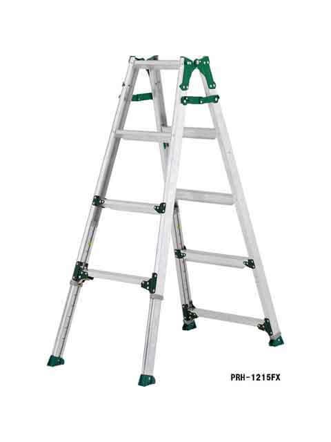 伸縮脚付はしご兼用脚立 高段差対応タイプ PRH-1518FX