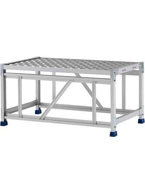 ステンレス金具仕様作業台(天板縞板タイプ) 1段 CMT 天板高さ 500mm 受注生産品 CMT-151WS