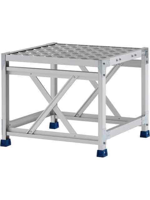 ステンレス金具仕様作業台(天板縞板タイプ) 1段 CMT 天板高さ 500mm 受注生産品 CMT-156S