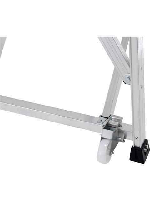 折りたたみ式作業台(背面キャスター、安全手掛かり棒標準装備) CSD-F 天板高さ1.00m CSD-100F