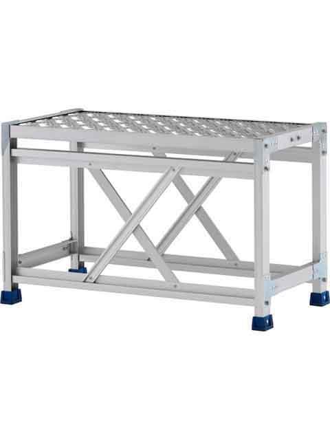 ステンレス金具仕様作業台(天板縞板タイプ) 1段 CMT 天板高さ 500mm 受注生産品 CMT-158S