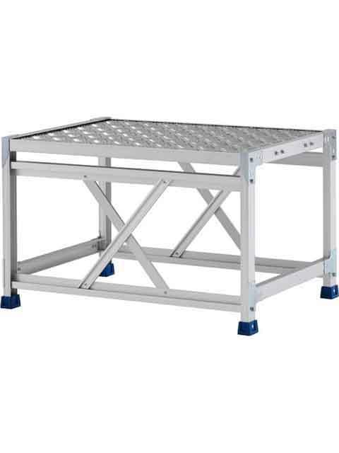 ステンレス金具仕様作業台(天板縞板タイプ) 1段 CMT 天板高さ 500mm 受注生産品 CMT-158WS
