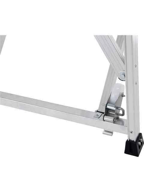 折りたたみ式作業台(背面キャスター、安全手掛かり棒標準装備) CSD-F 天板高さ1.50m CSD-150F