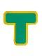 5Sフロア表示(高耐久タイプ) T字型 10枚セット