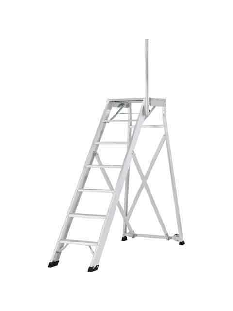 折りたたみ式作業台(背面キャスター、安全手掛かり棒標準装備) CSD-F 天板高さ1.75m CSD-175F