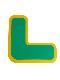 5Sフロア表示(高耐久タイプ) L字型 10枚セット