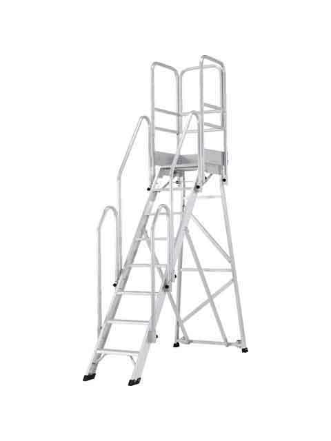 折りたたみ式作業台(背面キャスター、フル手すり標準装備) CSD-F 天板高さ2.00m CSD-200F