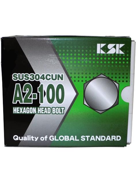 SUS304CUN 高強度ステンレスファスナー A2-100六角ボルト M16