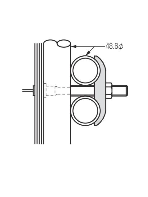 3型リブ座金 48.6丸パイプ用  (ケース販売)