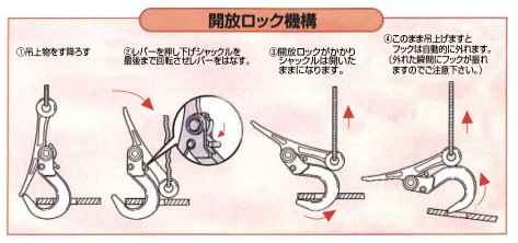 スーパーロックフック (開閉ロック式) SLH-A