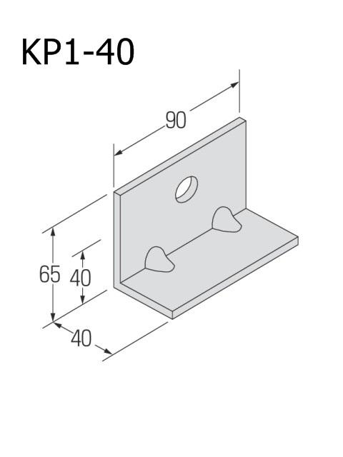 自立コンピース(一つ穴) 板厚4.5mm (ケース販売)