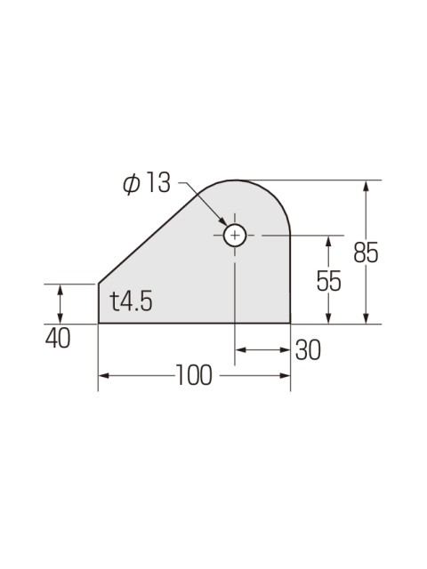 ブレースシート コーナープレート 穴径φ13 (100枚入り)