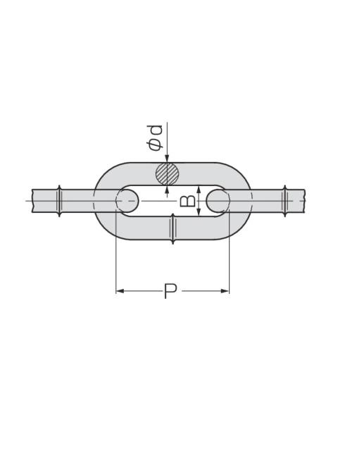 ユニクロメッキ リンクチェーン(汎用チェーン)定尺30M