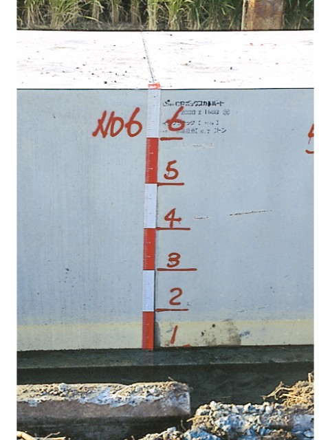 丁張ロッドエコ75 赤白30cm間隔