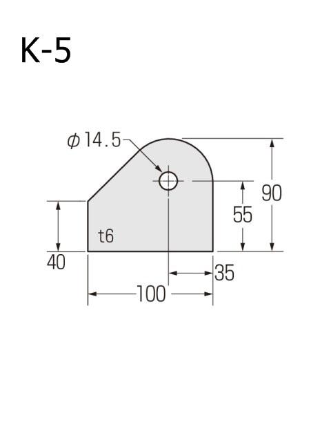 ブレースシート 仮設ハウス用 穴径14.5mm (ケース販売)
