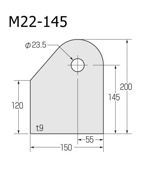 ブレースシート コーナープレート 穴径φ23.5 (ケース販売)