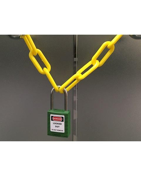 ロックアウト用パドロック 吊38mmタイプ 緑