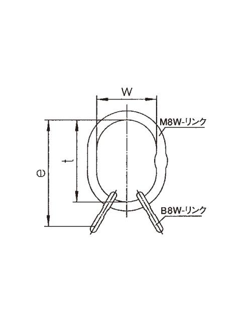 ペワッグ 大型4本吊り用親子リング VMW(アイタイプ)