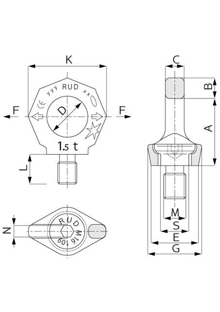 RUD スターポイント(VRS型回転アイボルト)