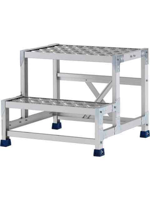 ステンレス金具仕様作業台(天板縞板タイプ) 2段 CMT 天板高さ 500mm 受注生産品 CMT-255S