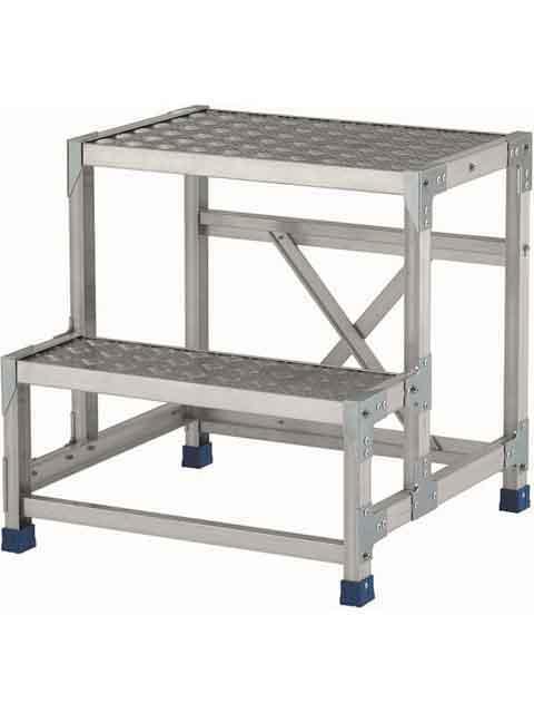 ステンレス金具仕様作業台(天板縞板タイプ) 2段 CMT 天板高さ 600mm 受注生産品 CMT-265S
