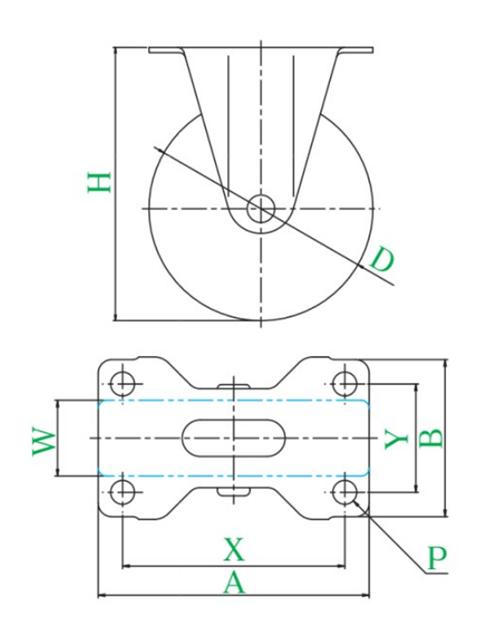 キャスター SR型 固定式