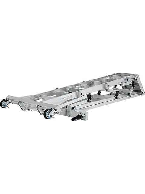 折りたたみ式大型移動式作業台(フル手すりセット標準装備) CSD-L 天板高さ 2.66m CSD-270L
