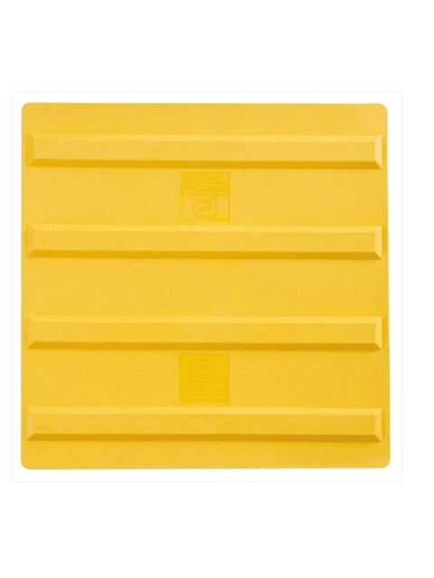 エコ点字パネル 300角 ラインタイプ (再生エラストマー樹脂)