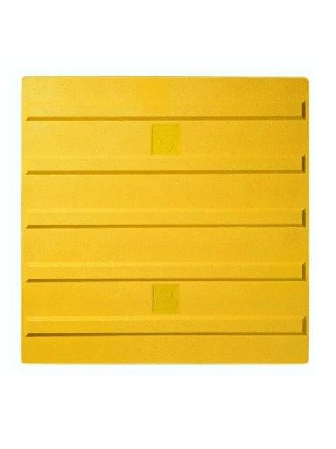 エコ点字パネル 400角 ラインタイプ (再生エラストマー樹脂)