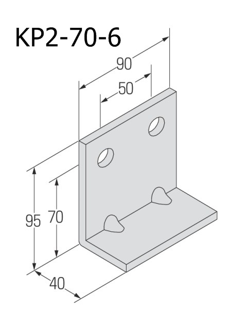 自立コンピース(二つ穴) 板厚6mm (ケース販売)