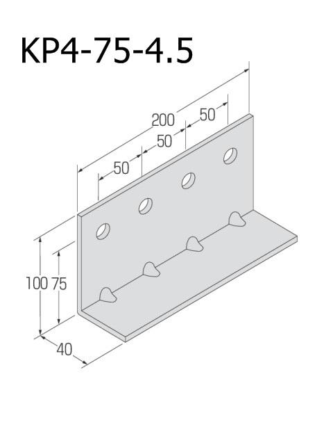 自立コンピース(四つ穴) 板厚4.5mm (ケース販売)